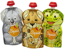 Lot de 3 Gourdes souples SQUIZ Australia